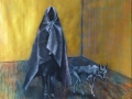 1.Die Wanderer, Boys-Coyote.2016.Acryl, Papier.180x150cm